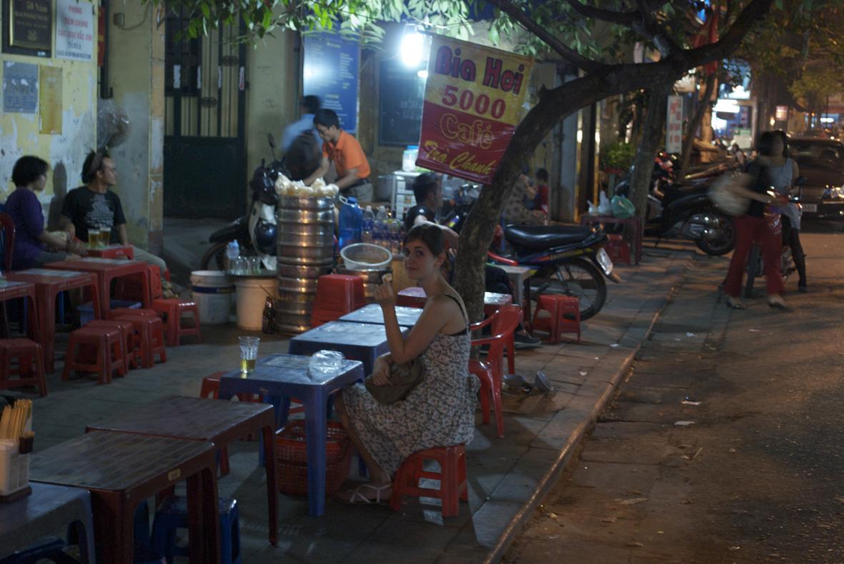 Bia Hoi corner, Hanoi, Vietnam